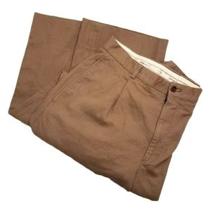 Armani Brown/Tan Pleated Texture Pants